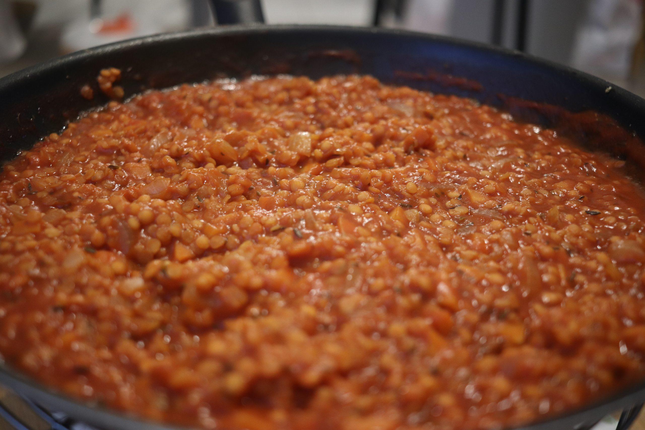 """Sauce """"bolognaise"""" aux lentilles corail"""