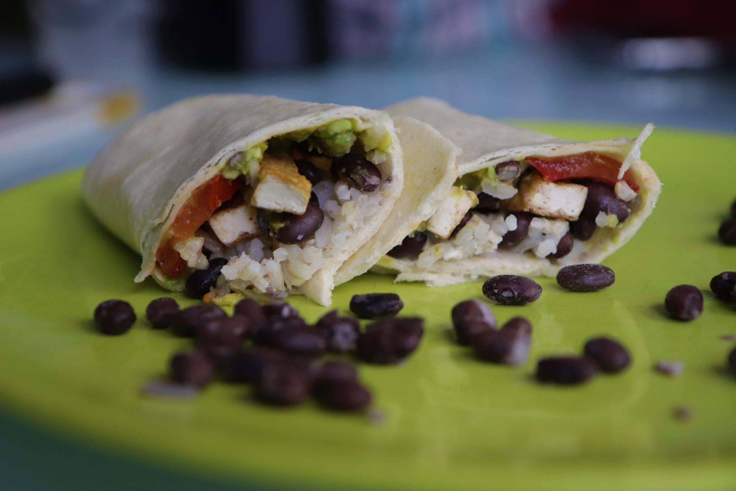 Burritos aux haricots noirs