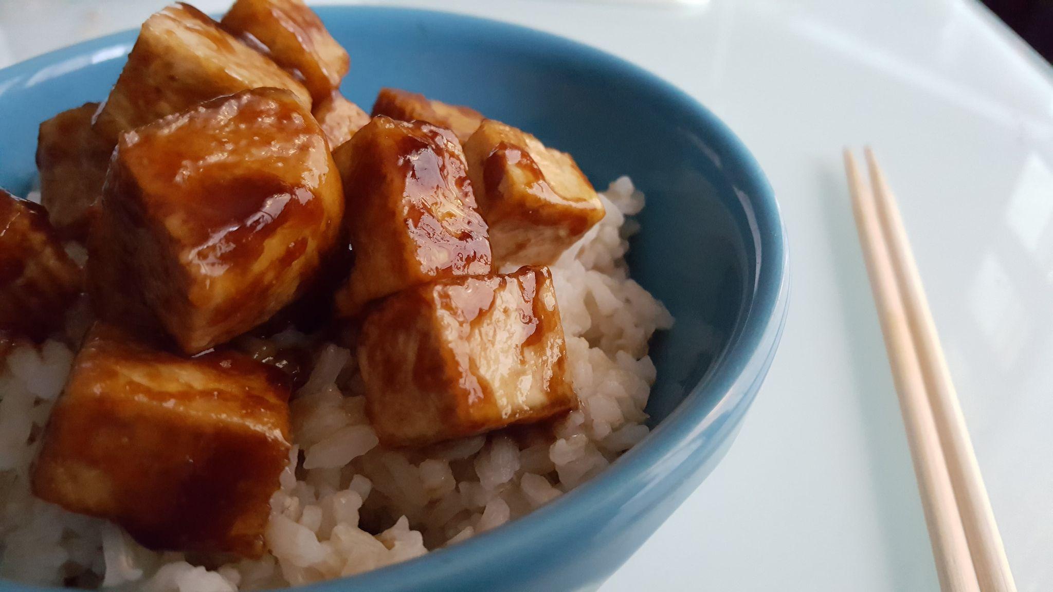Tofu teriyaki rapide